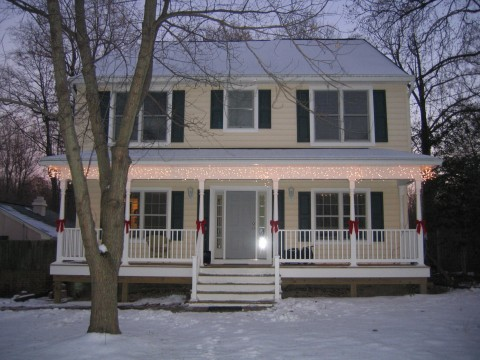 winter - finished house front